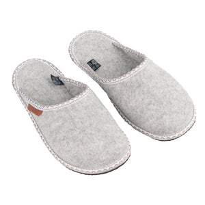 Unisex woolen slippers HALLA, light grey