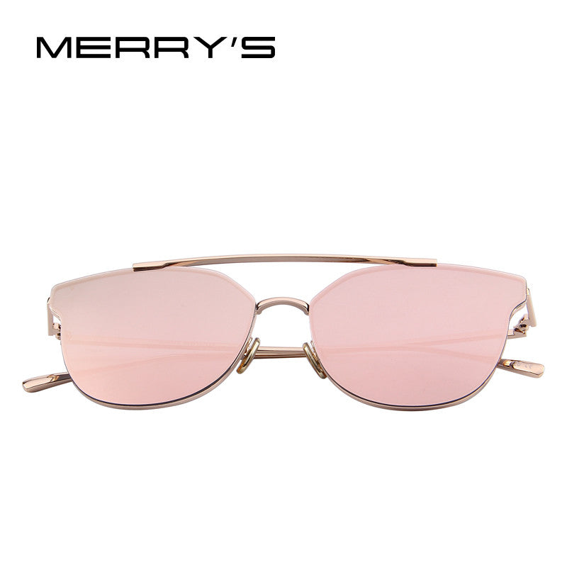 Cat-Eye Designer Mirror Sunglasses Classic Shape
