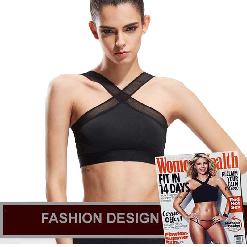 Sport Bra with Mesh Cross Straps