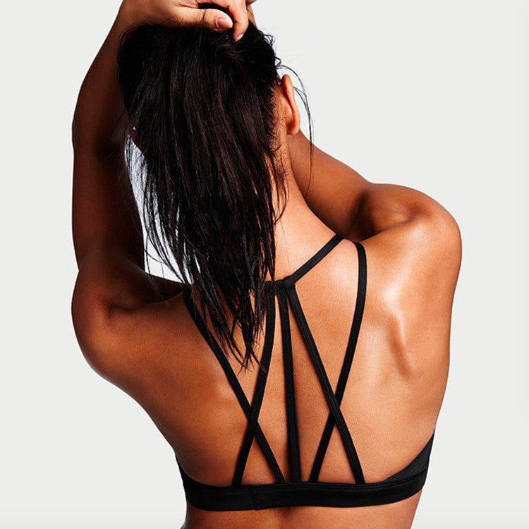 Workout Mesh Detail Strappy Top