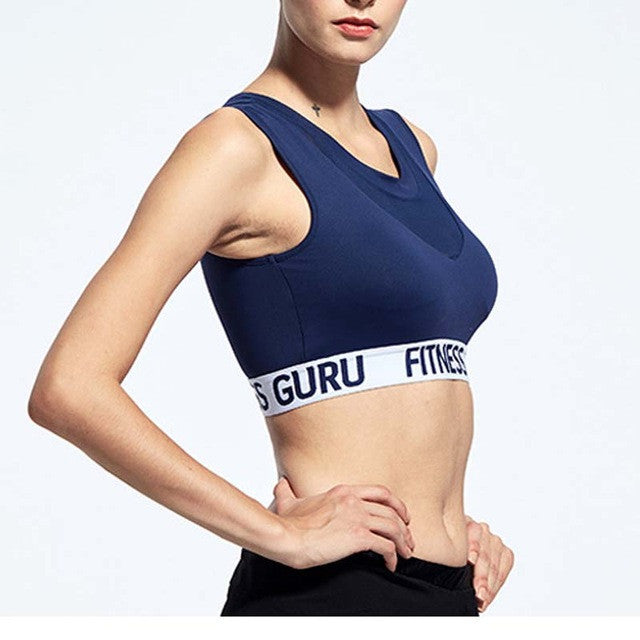 Mesh Detail Quick Dry Running Sports Bra Guru Fitness