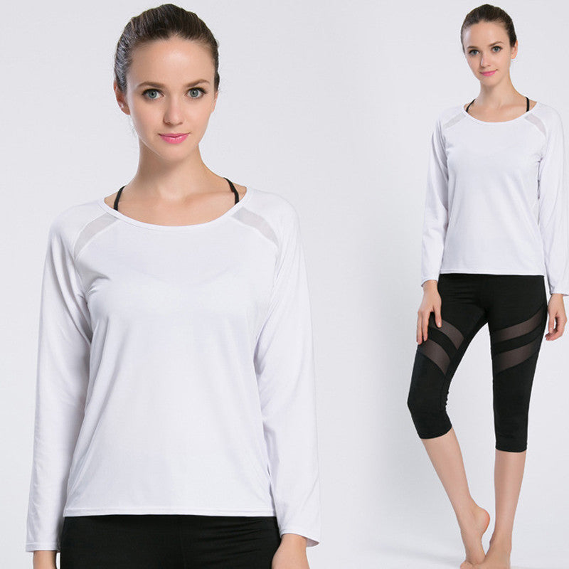 Long Sleeve Fitness Shirt Sexy Cutout Back