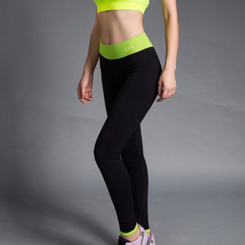 Sexy Thick Rubber Waist Band Fitness Leggings
