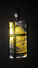 Cross glass pendant