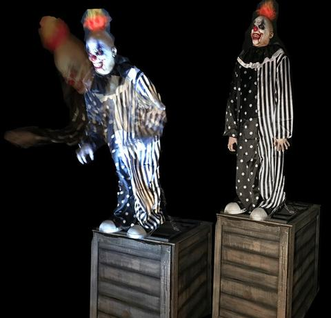 Bending Clown Reacher- Haunted House Animatronic