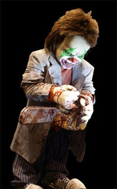Mini Mean the Chainsaw Clown Haunted House Animatronic
