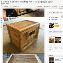 Instructables Monster-In-A-Box Halloween Prop Parts Kit