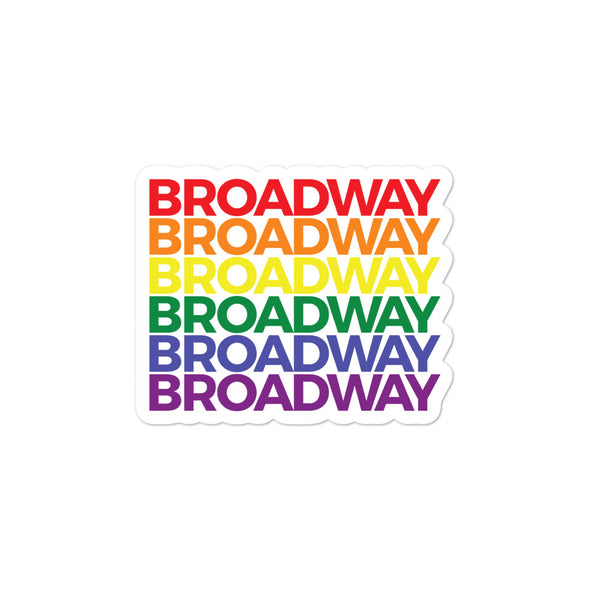 Broadway Pride - Bubble-free stickers