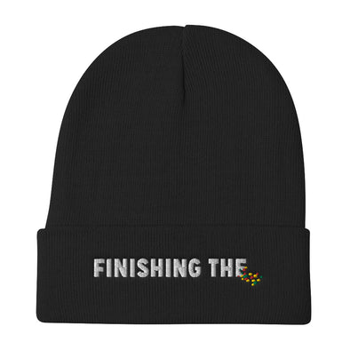 Finishing The Hat - Embroidered Beanie