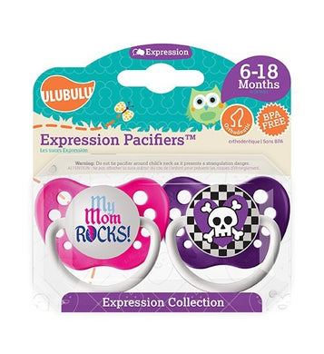 Pack tétines Mom Rocks & Blue purple 6-18M