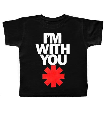 T-Shirt Red Hot Chili Peppers logo Black
