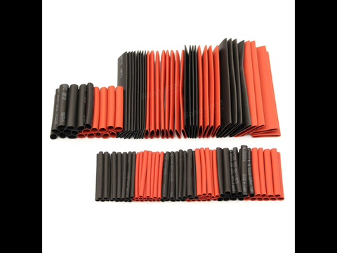 127Pcs Halogen-Free 2:1 Heat Shrink Tubing Wire Cable Sleeving Wrap Wire Kit-HELY-SHOP.co.uk