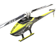 SAB Goblin 700 Competition Carbon Yellow Kit With Blades SG707-HELY-SHOP.co.uk