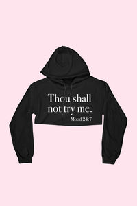 Commandment Cropped Hoodie