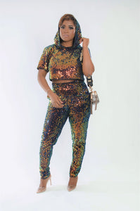 Bright Side Sequin Jogger Set