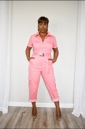 Coral Reef Cargo Jumpsuit