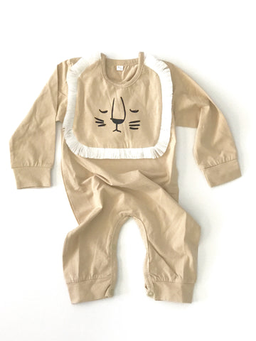 Long Sleeve Lion Bib