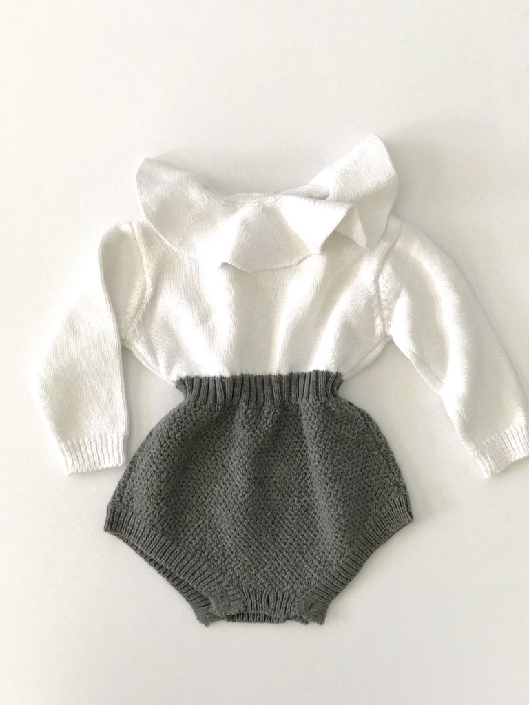 Knitted Ruffle Romper