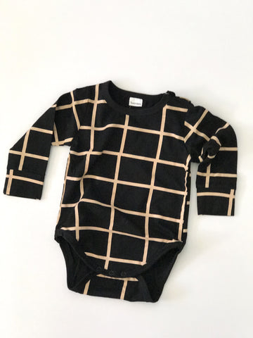 Blocked Long Sleeve Onesie