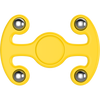 Plastic Tri Spinner Fidget Hand Toy for Relieving Stress Non-3D Printed ( Yellow )