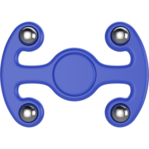 Plastic Tri Spinner Fidget Hand Toy for Relieving Stress Non-3D Printed ( Blue )