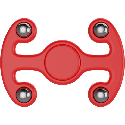 Plastic Tri Spinner Fidget Hand Toy for Relieving Stress Non-3D Printed ( Red )