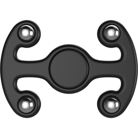 Plastic Tri Spinner Fidget Hand Toy for Relieving Stress Non-3D Printed ( Black )