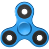The Anti-Anxiety 360 Fidget Tri Spinner [ALLOY METAL] Hand Toy for Relieving Stress ( Blue )