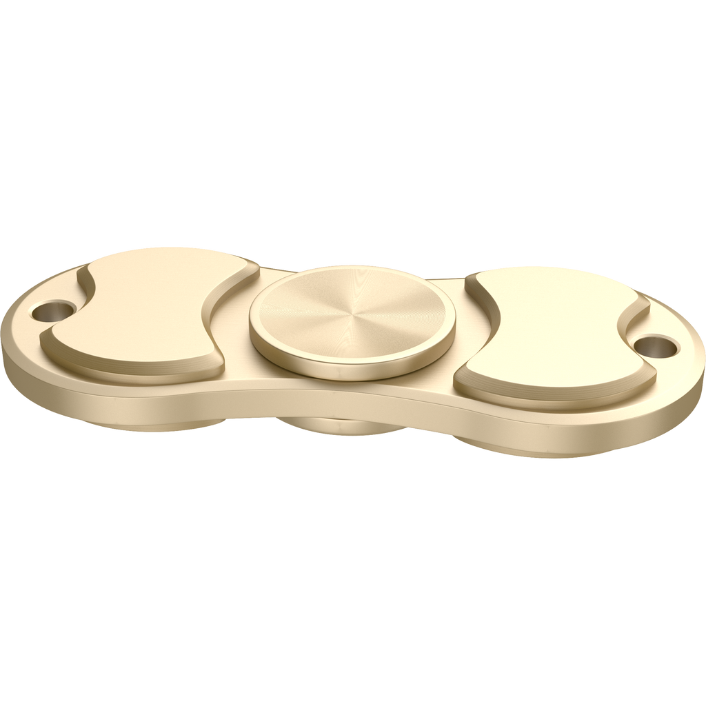 360 Aluminum Alloy Fidget Spinner Toy for Relieving Stress for Kids and Adults ( Gold )