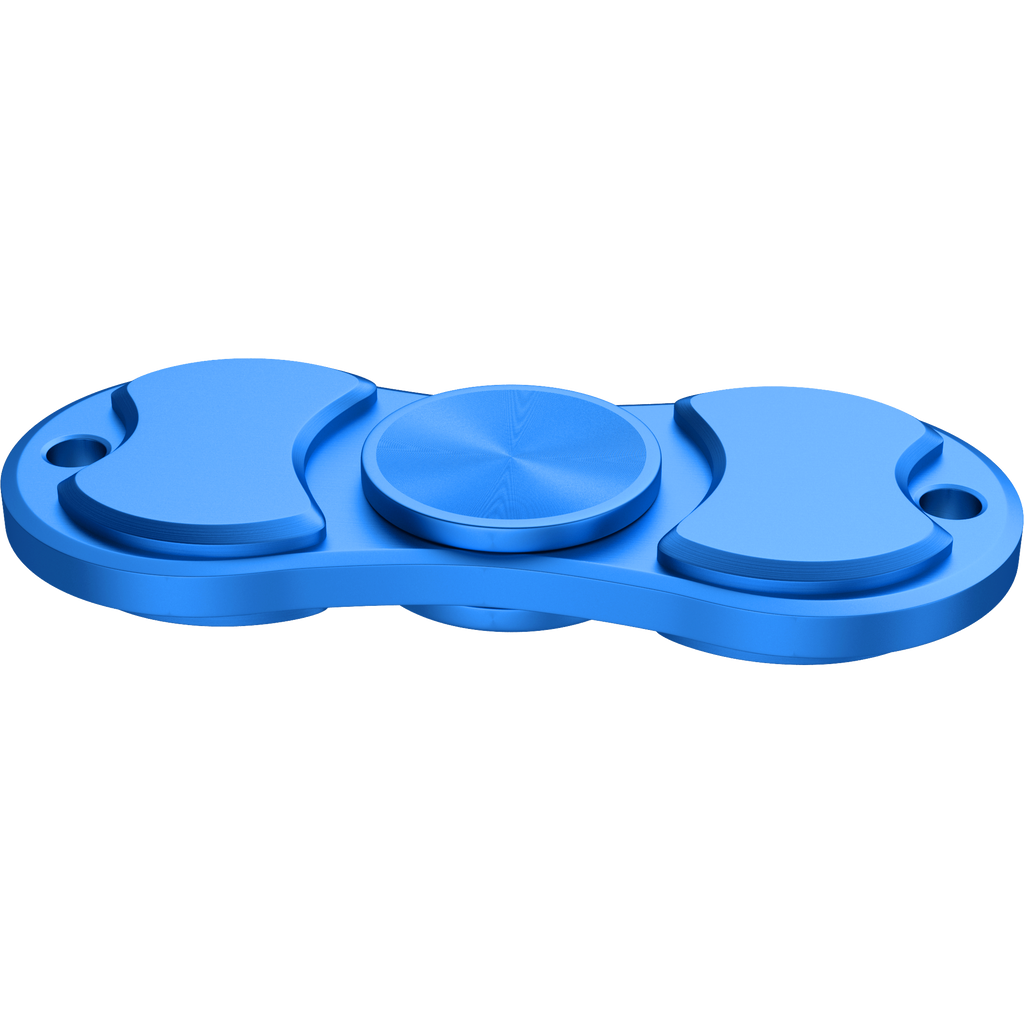 Zinc Alloy Spinner Fidget Hand Toy for Relieving Stress Non-3D Printed ( Blue )