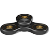 The Anti-Anxiety 360 Fidget Tri Spinner [ALLOY METAL] Hand Toy for Relieving Stress ( Black )
