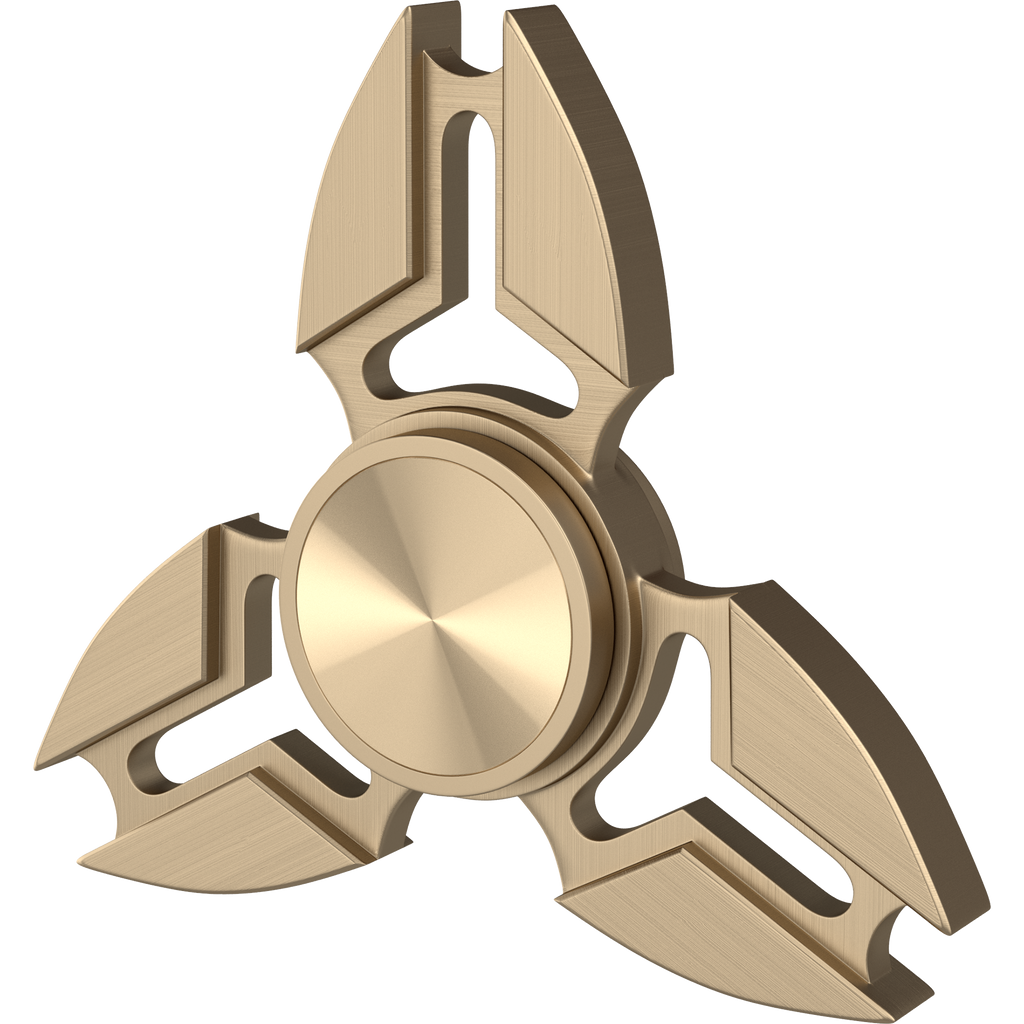 Hot Aluminum Alloy Tri Spinner Fidget Hand Toy for Relieving Stress ( Gold 3 Corner )
