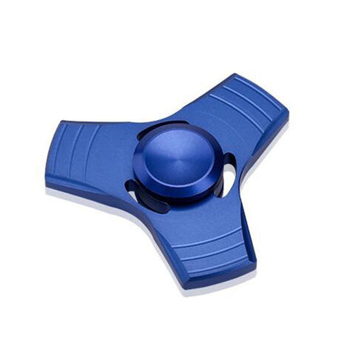Aluminum Alloy Tri Spinner Fidget Hand Toy for Relieving Stress Non-3D Printed ( Aluminum Blue )