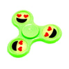 Glow in the Dark Luminous Smile Emoji Plastic Fidget Spinners For Autism and ADHD Anti-Stress