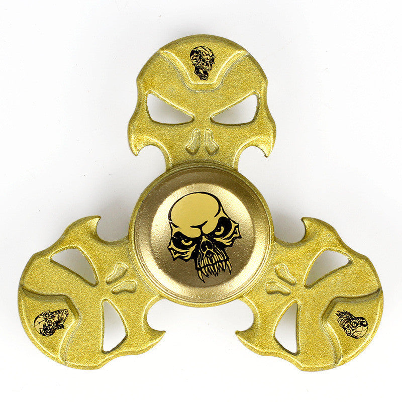 Supology Anti Stress Skull Finger Spinners Toys Hand Spinners For Autism and ADHD Kids