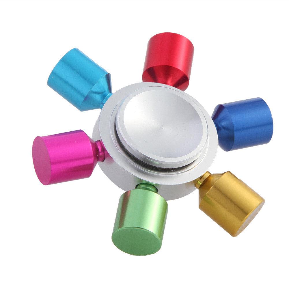 Rainbow Colorful Metal Finger Fidget Spinner For Autism Adult Anti Relieve Stress Toy