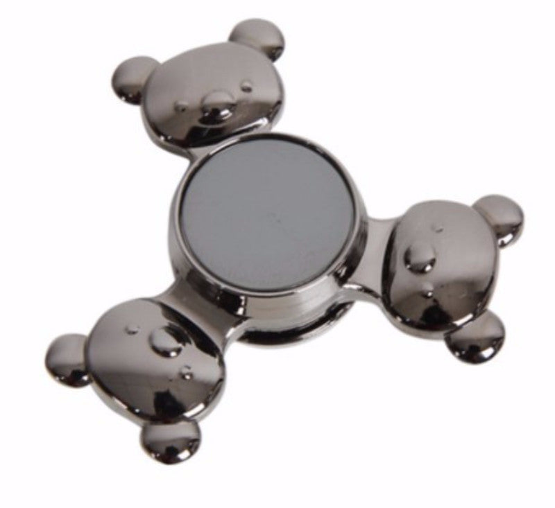 Panda Head Shaped Fidget Spinner Toys Metal Tri-Finger Spiner For Autism & ADHD