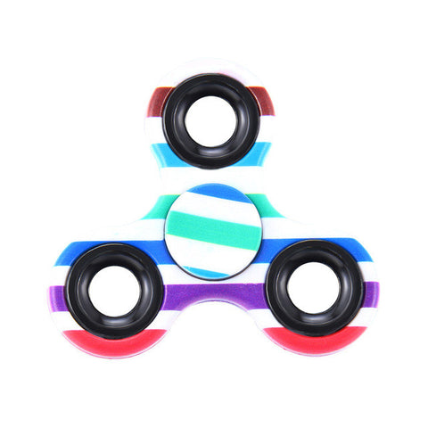 Multi Color Triangle Gyro Fidget Finger Spinner For Anxiety Stress Relief Focus Toys