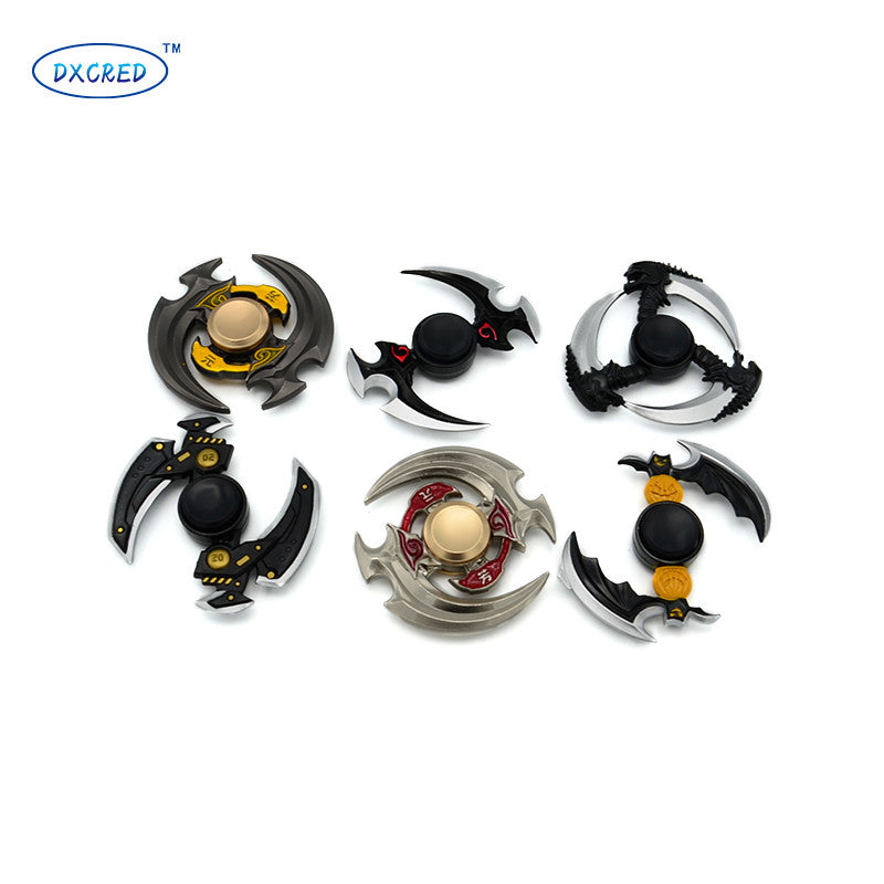Professional Golden Zinc Alloy Bearing Ball Fidget Spinners for Autism and ADHD