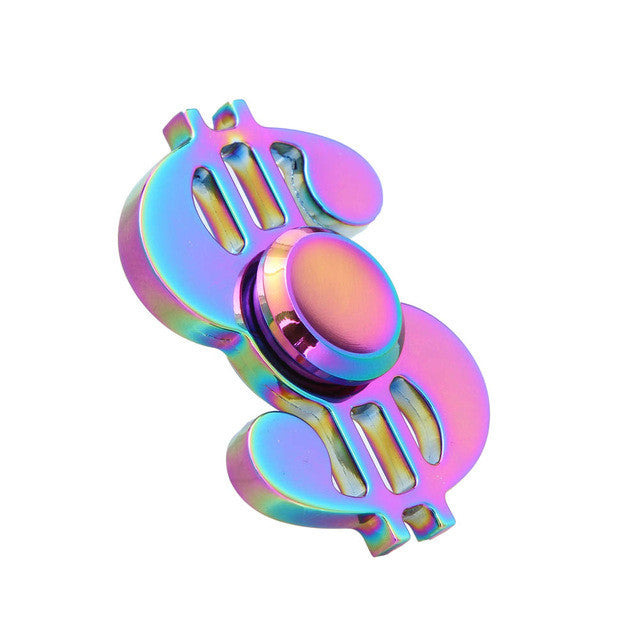 Note Dollar Sign $ Fidget Hand Spinners EDC For ADHD Anxiety Autism Stress Reducer