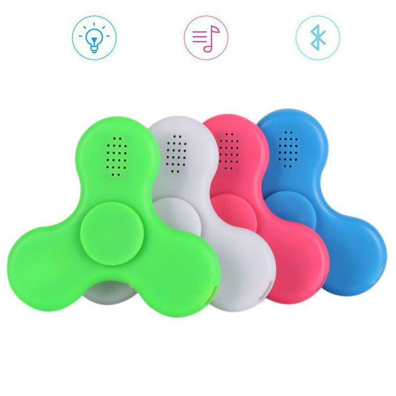Hot COOL LED Light Hand Spinner Bluetooth Speaker Music EDC Hand Spinner For Autism Finger Toys
