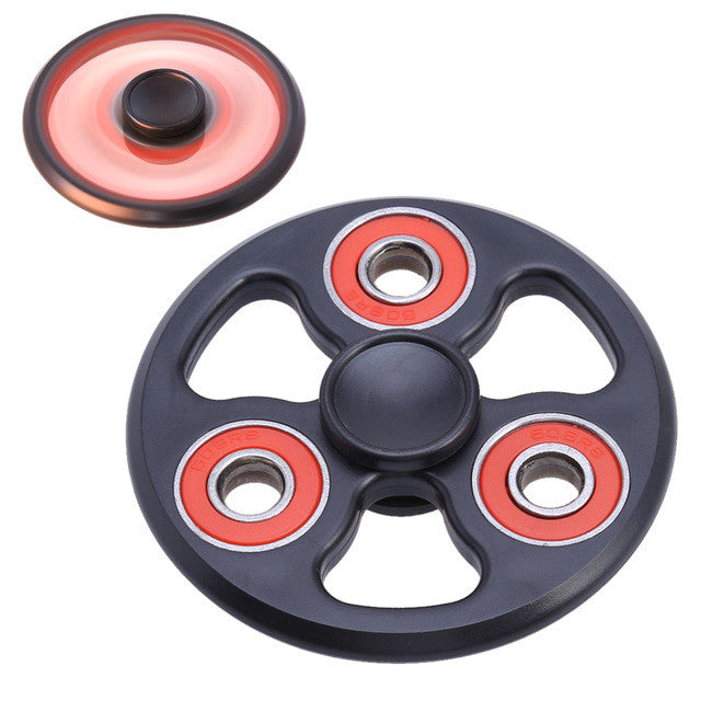 Fingertip Gyro Decompression Fidget Spinners Plastic Round Wheel Anxiety Stress Relief Toys