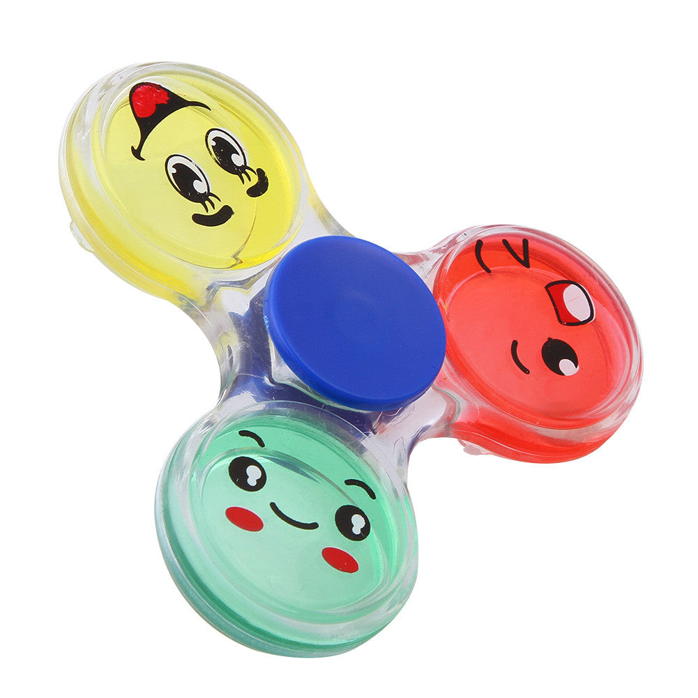 Colorful Cartoon Smiling Face Hand Spinner Tri-Spinner Anti Stress Sensory