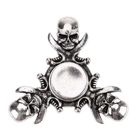 Vintage Skull Aluminum Alloy EDC Hand Spinner Metal Finger Spinners For Adult To Reduce Pressure