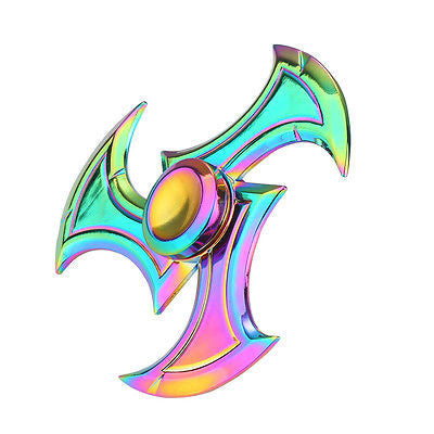 Rainbow Gyro Alloy Fidget Hand Tri Spinner For Kids Adult Autism