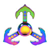 Rainbow Anchor Finger Spinner Pirate Style Tri Fidget Hand Gyro EDC Focus Toy