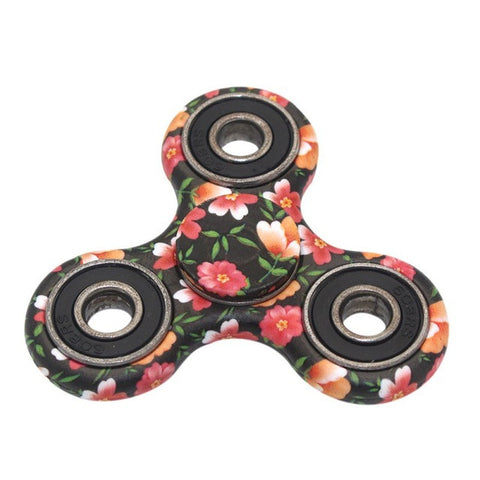 Floral Design Relieve Stress Fidget Spinner Plastic EDC Hand Spinner For Autism and ADHD