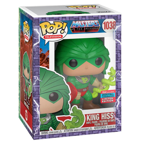 Funko - IN STOCK: Funko POP Animation: MOTU - King Hiss With PPJoe MOTU Sleeve