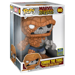 "Funko - IN STOCK: Funko POP Marvel: Marvel Zombies- 10"" The Thing With PPJoe Protector"