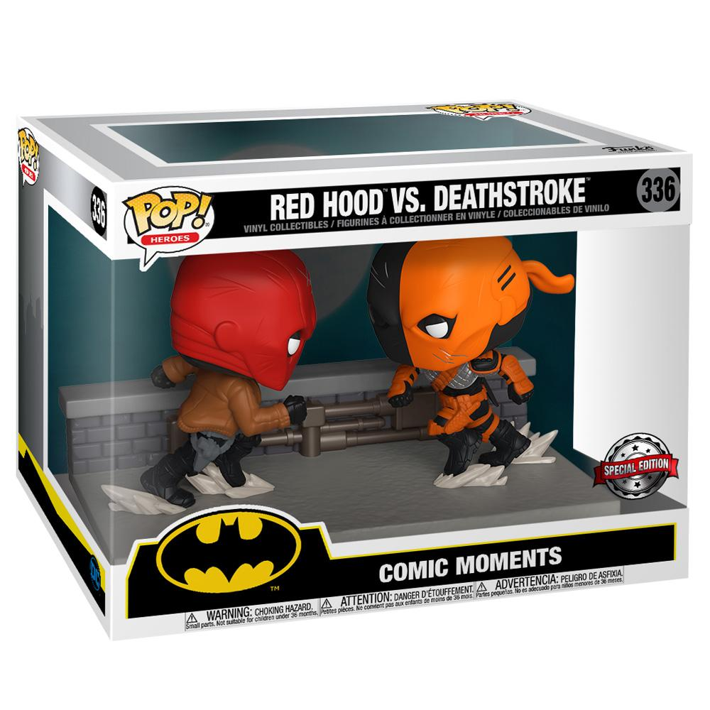 Funko - IN STOCK: Funko POP Moment: DC- Red Hood Vs Deathstroke With PPJoe Pop Protector